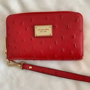 Michael Kors wallet in red